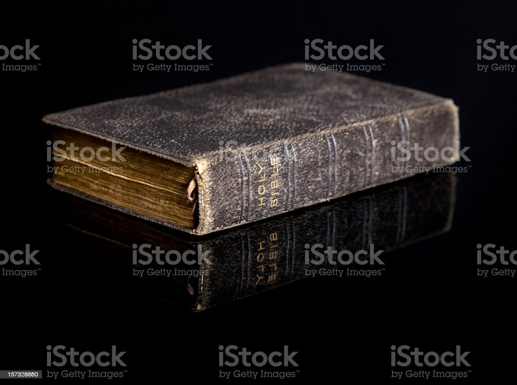 Bible on Black stock photo
