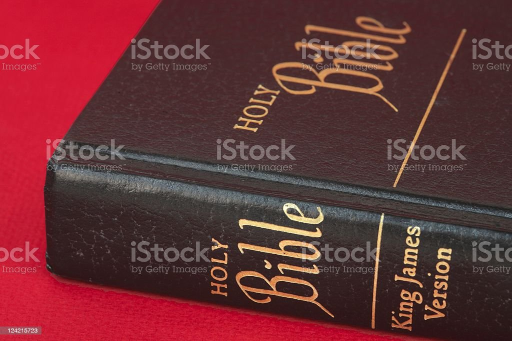 Bible on Red Series royalty-free stock photo