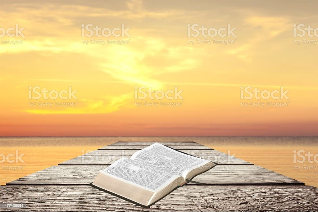Bible, Open, Book stock photo