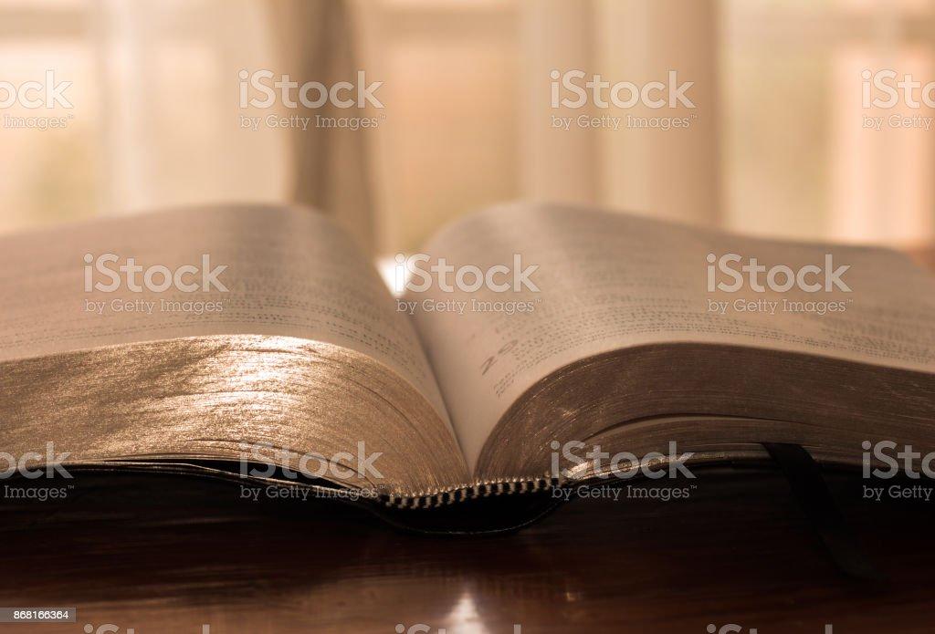 Bible Open stock photo