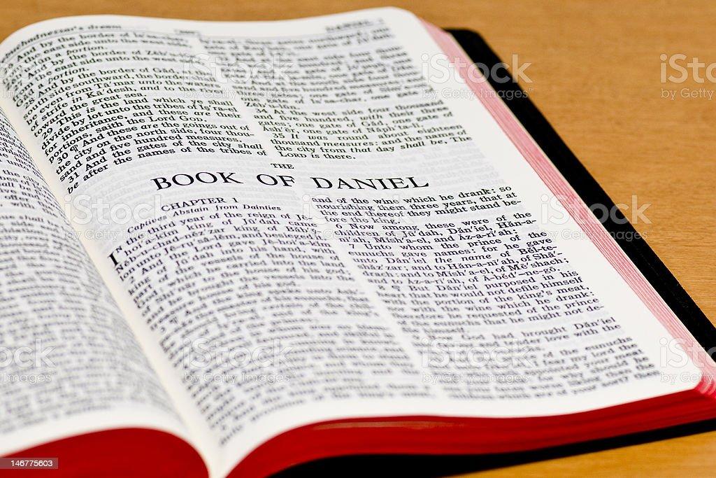 Bible Page - Daniel royalty-free stock photo