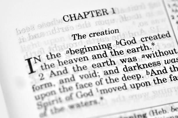 bible - schepping stockfoto's en -beelden