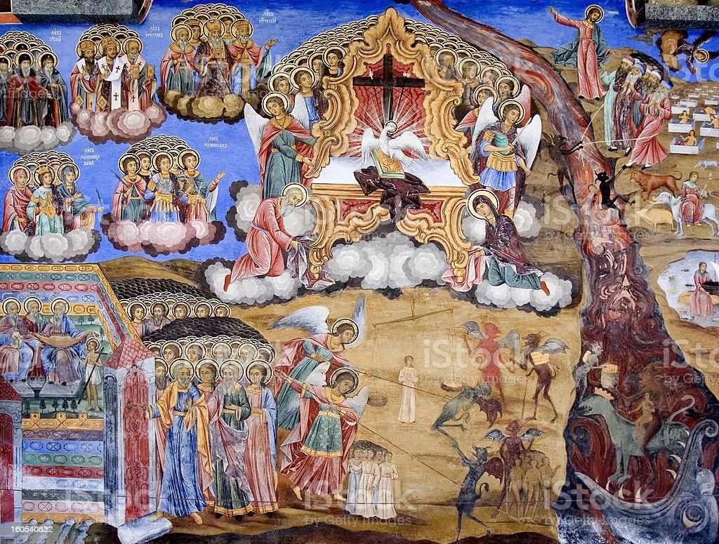 Photo Libre De Droit De Bible Scène Peinture Murale Du