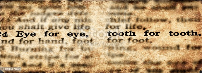Bible scripture eye for an eye and tooth for a tooth old testament verse