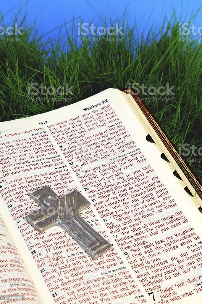 Bible Scripture Matthew stock photo