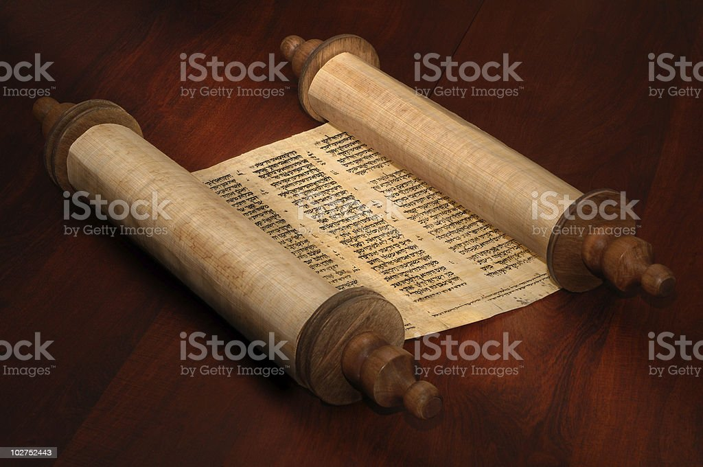 Bible Scrolls stock photo