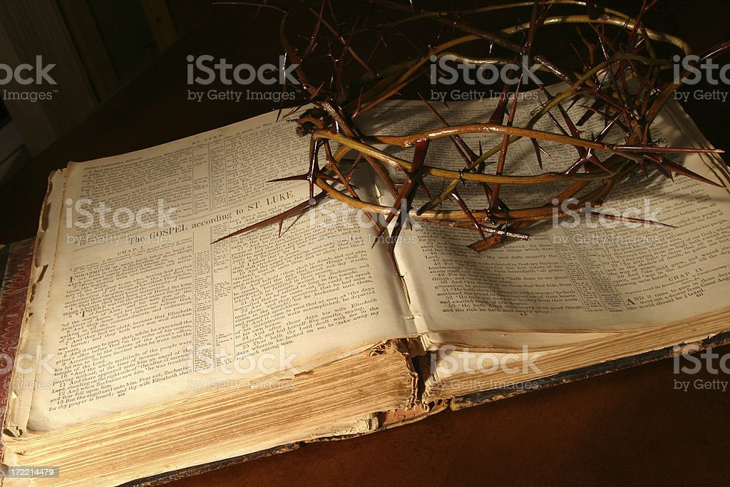 Bible Series (ca 1870) Crown of Thorns royalty-free stock photo