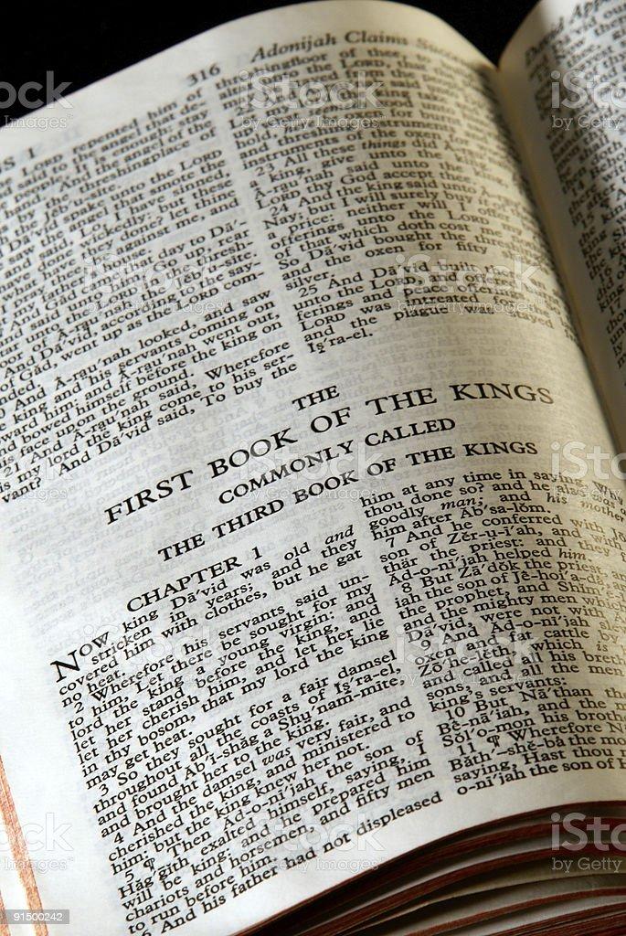 bible series kings III stock photo