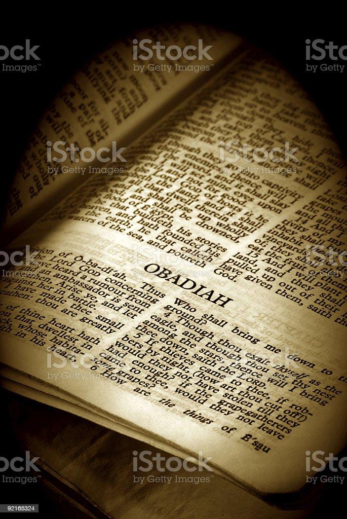 Bible Series Obadiah stock photo