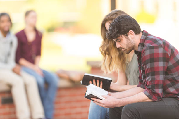 bible study - christianity stock photos and pictures