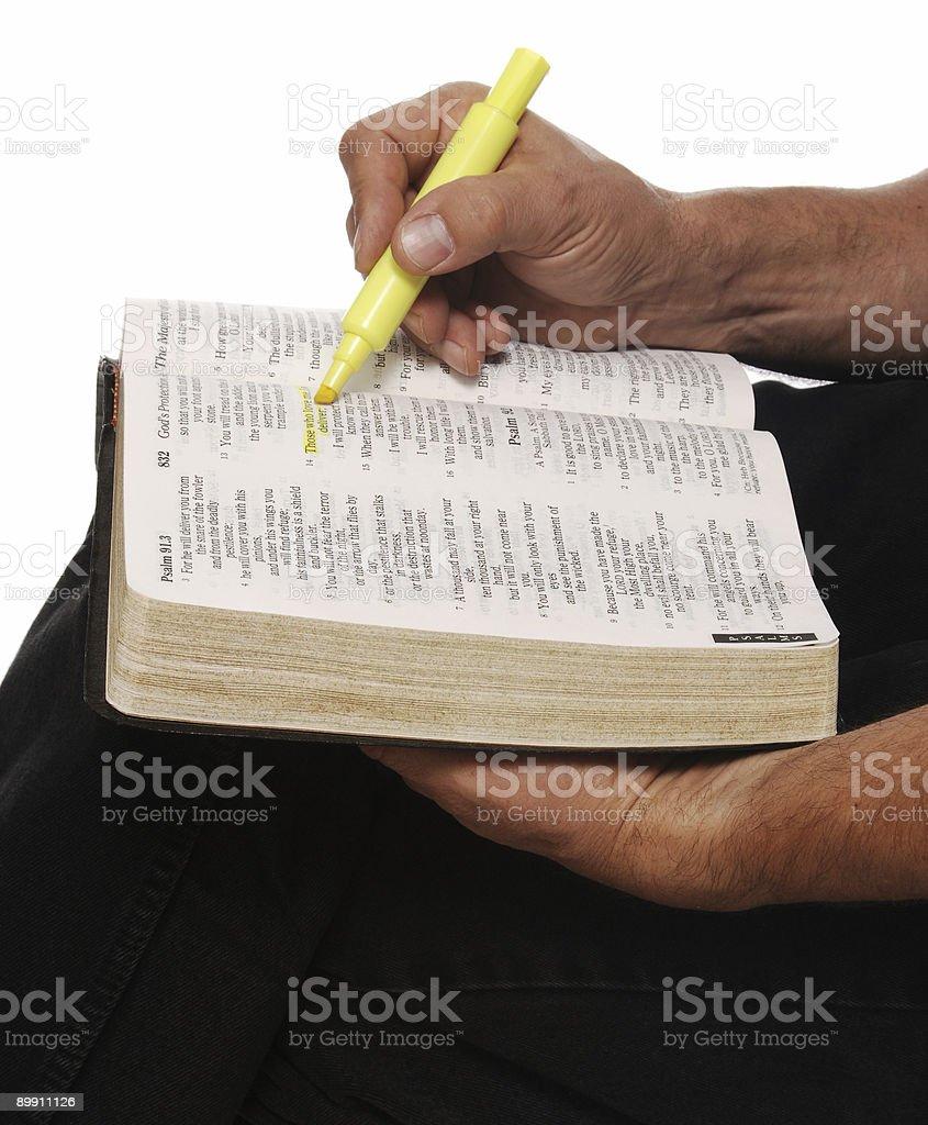 Biblia del estudio foto de stock libre de derechos