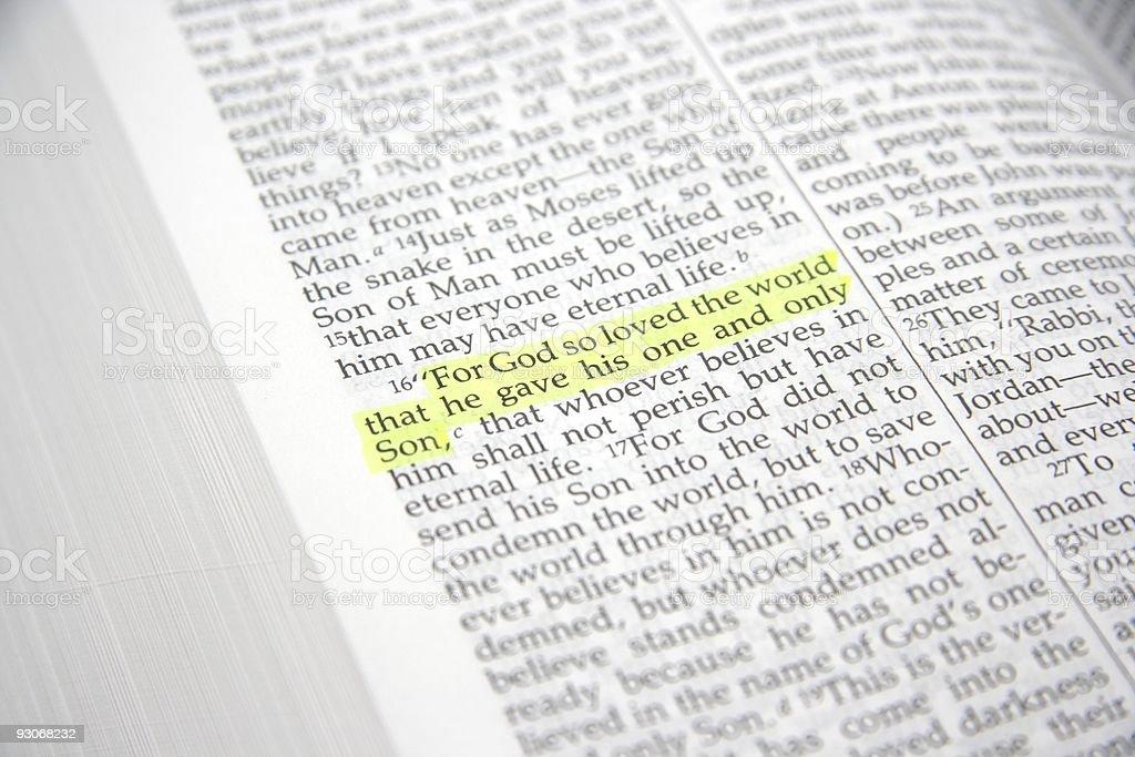 Bible text john chapter three verse sixteen royalty-free stock photo