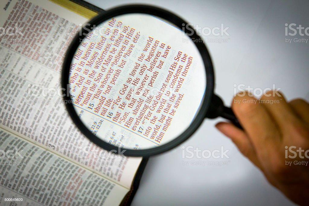 Bible verses stock photo