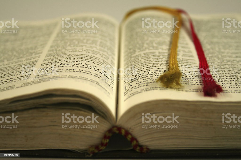 bible with d.o.f. stock photo