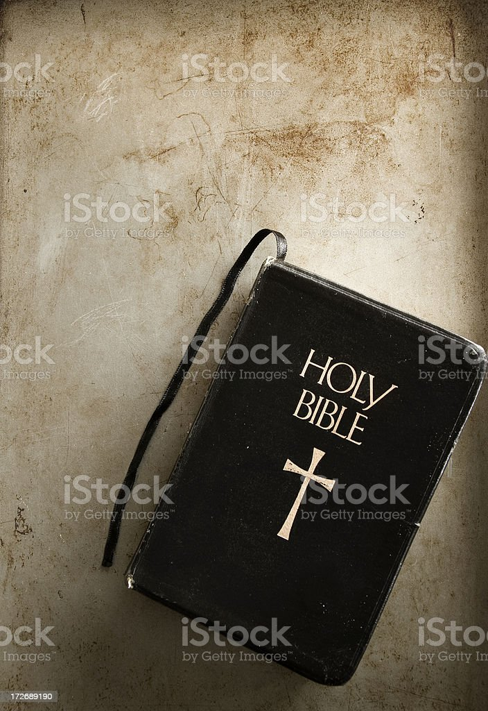 Bible with grunge stock photo