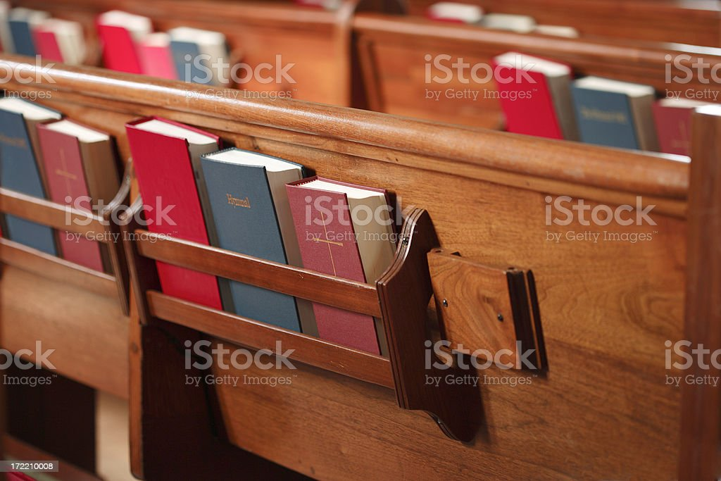 Bibles and Hymnals stock photo