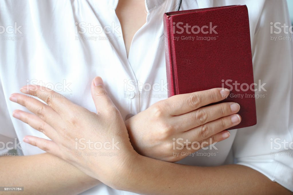 bible,women reading from the holy bible stock photo