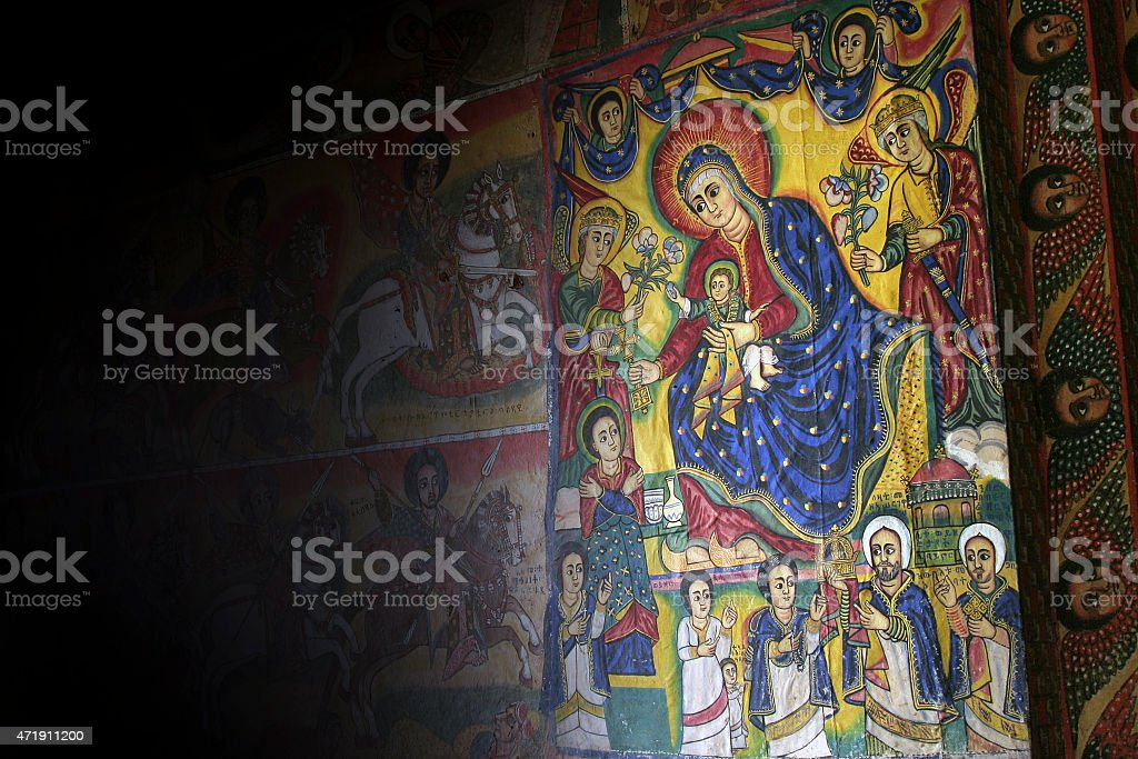 Biblical painting stock photo