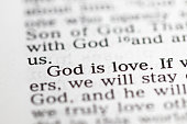 istock Biblical text. God is love. Christian concept 1227543896