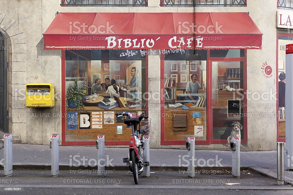 Biblio'Café in Lyon, France stock photo