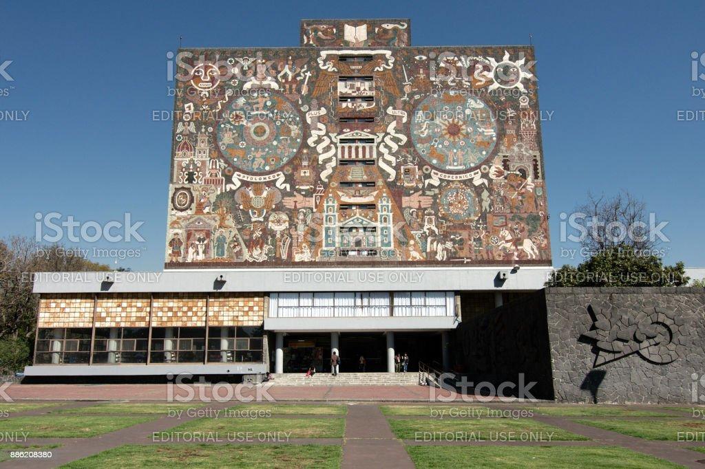 Biblioteca Central UNAM stock photo