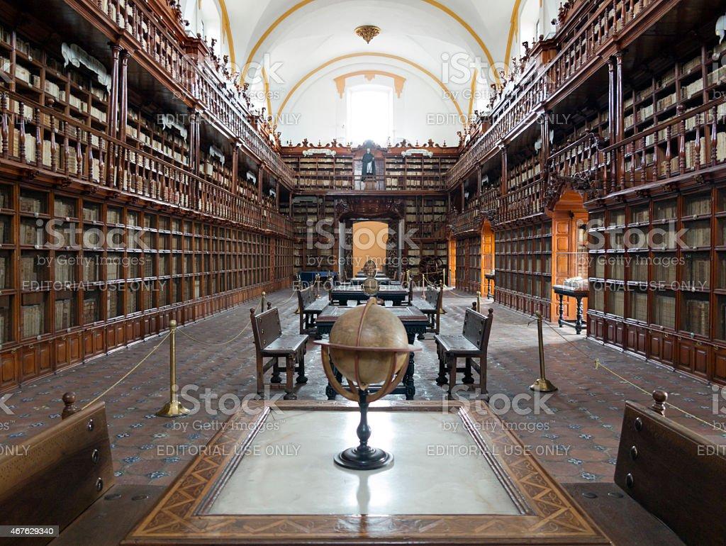 Biblioteca Palafoxiana in Puebla, Mexico stock photo