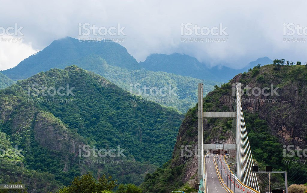 Puente Baluarte Bicentenario stock photo
