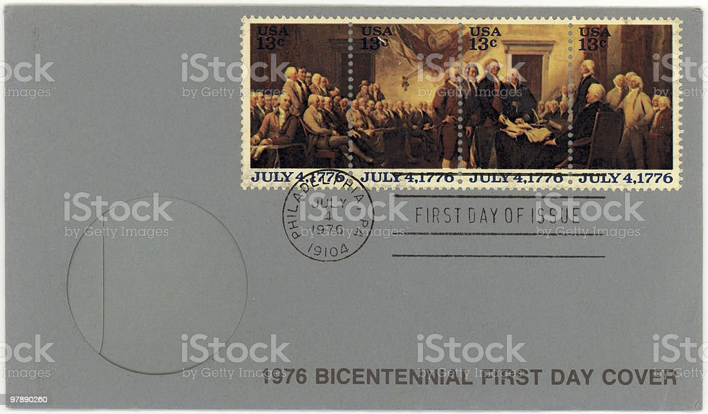 Bicentennial First Day Cover royalty-free stock photo