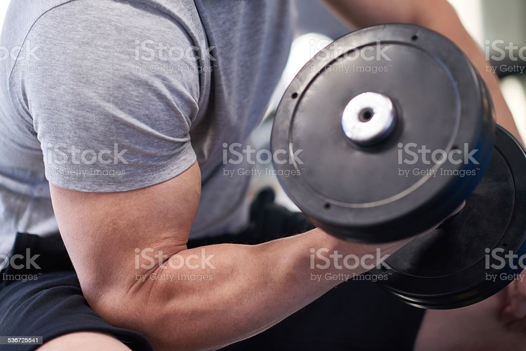 Bicep curl stock photo