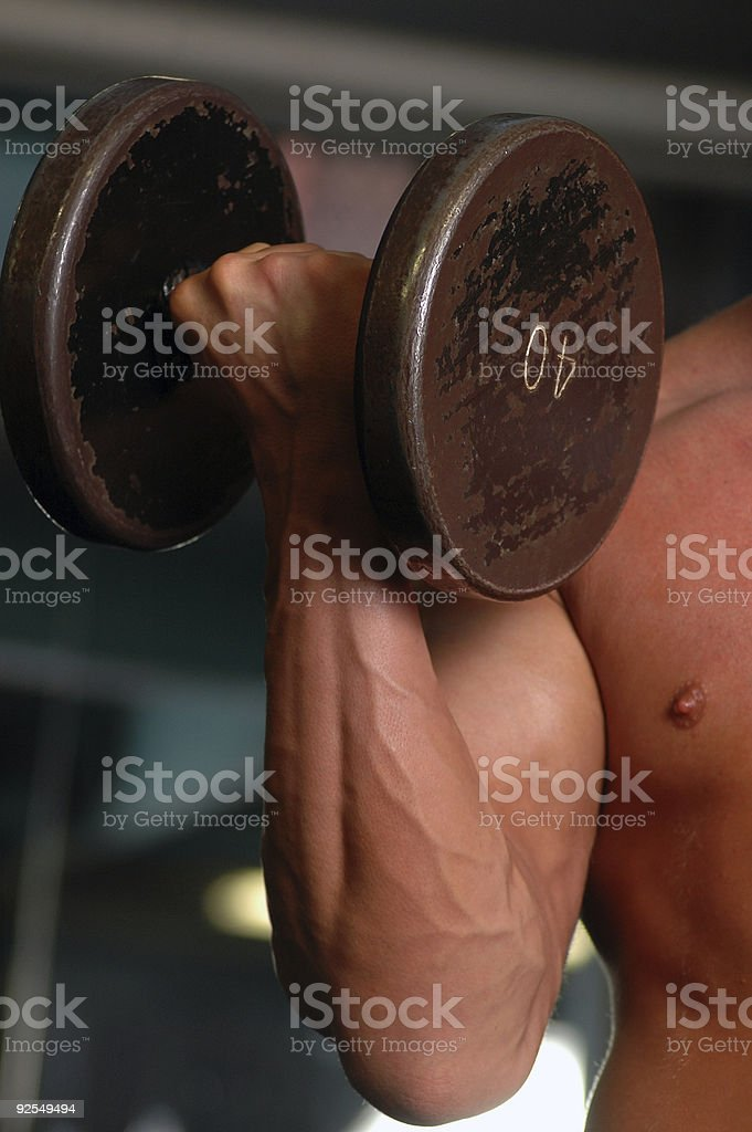 bicep curl royalty-free stock photo