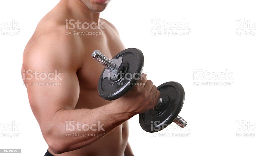 Bicep Curls royalty-free stock photo