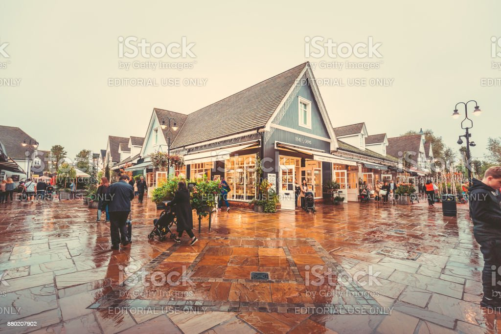 Bicester Village, UK stock photo