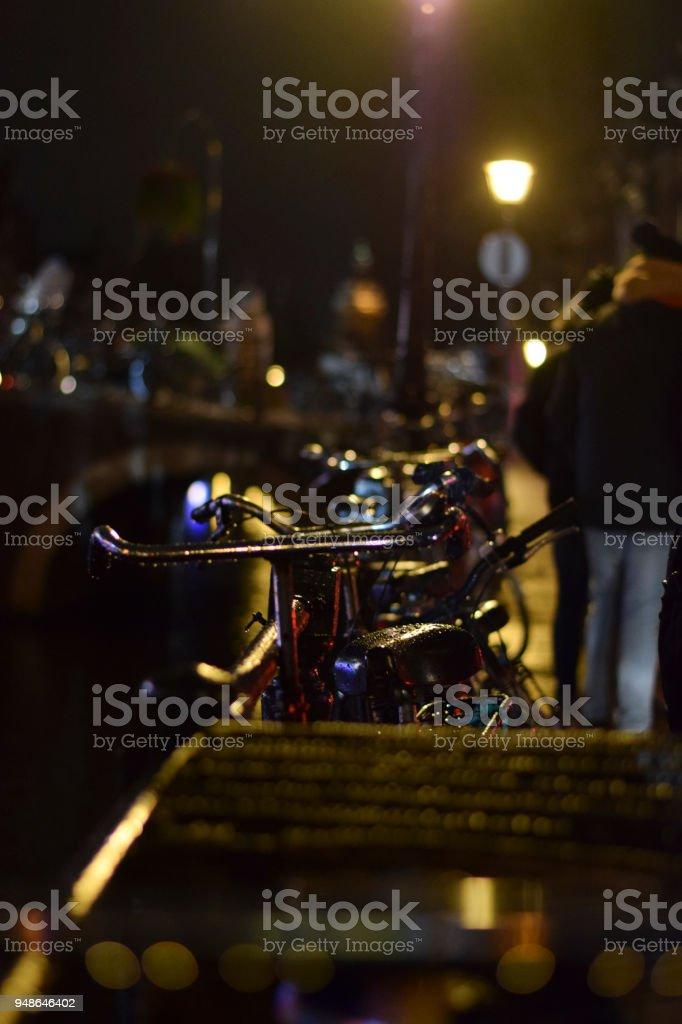 Bicicleta en Amsterdam stock photo