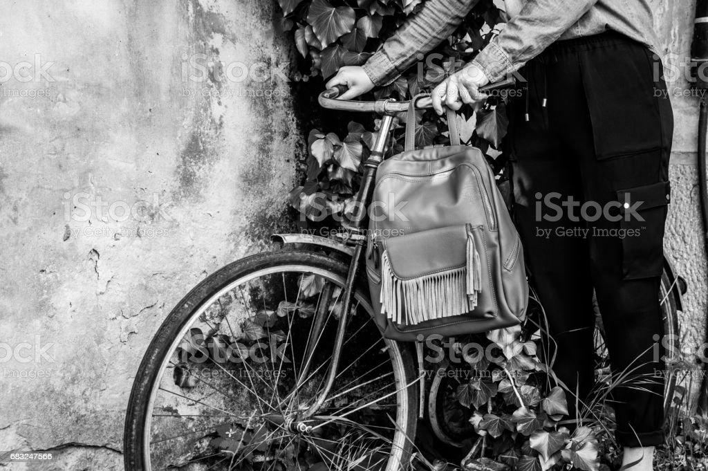 Bicicletta in edera royalty-free 스톡 사진