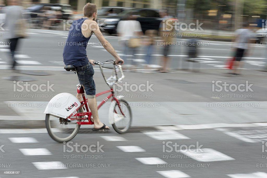 Bicing Bicycle Dash royalty-free stock photo