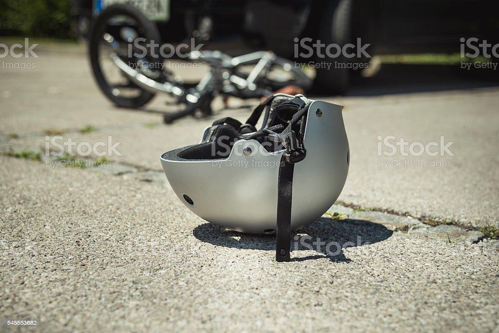 Bicycle accident stock photo