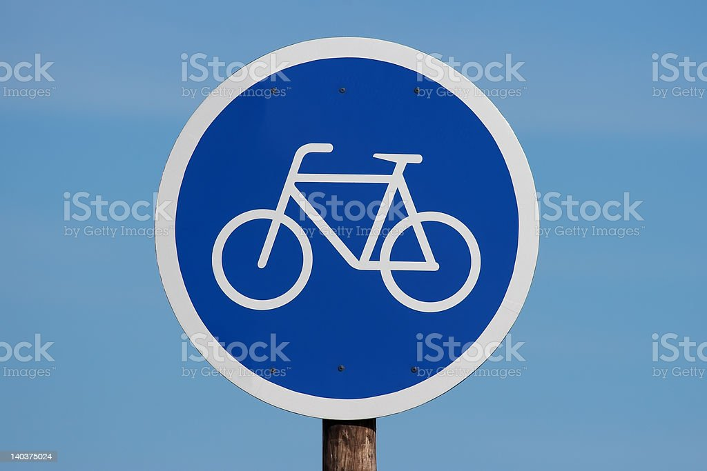 Bicycle allowed Sign royalty-free stock photo