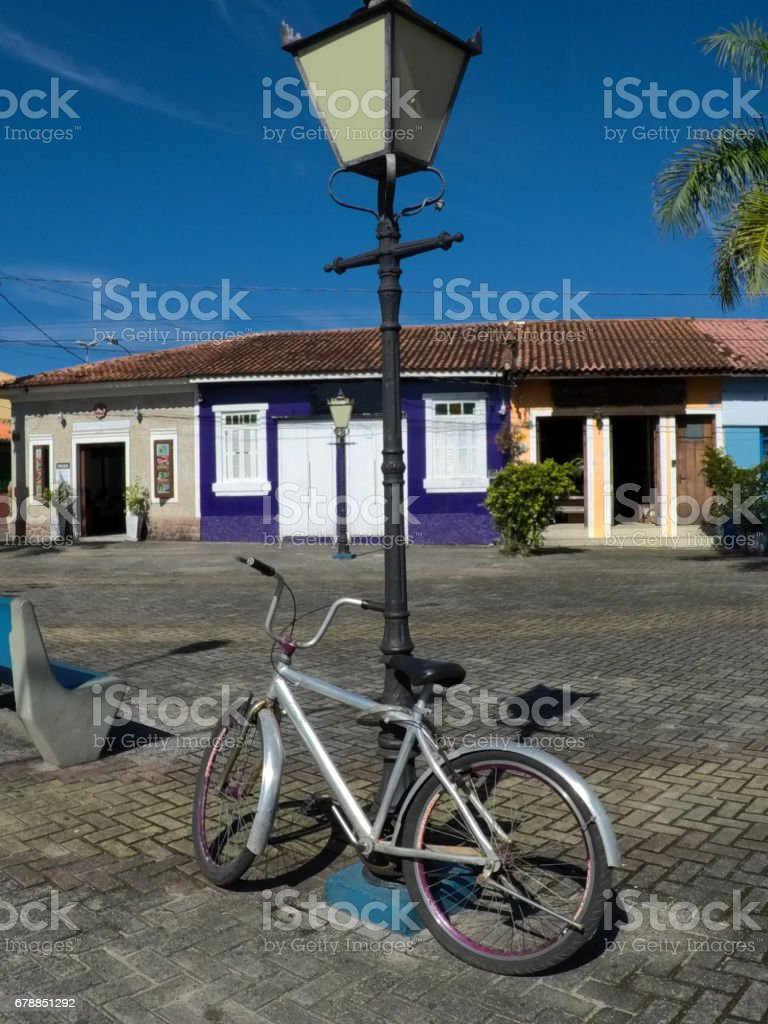 Bicycle and Pole stock photo