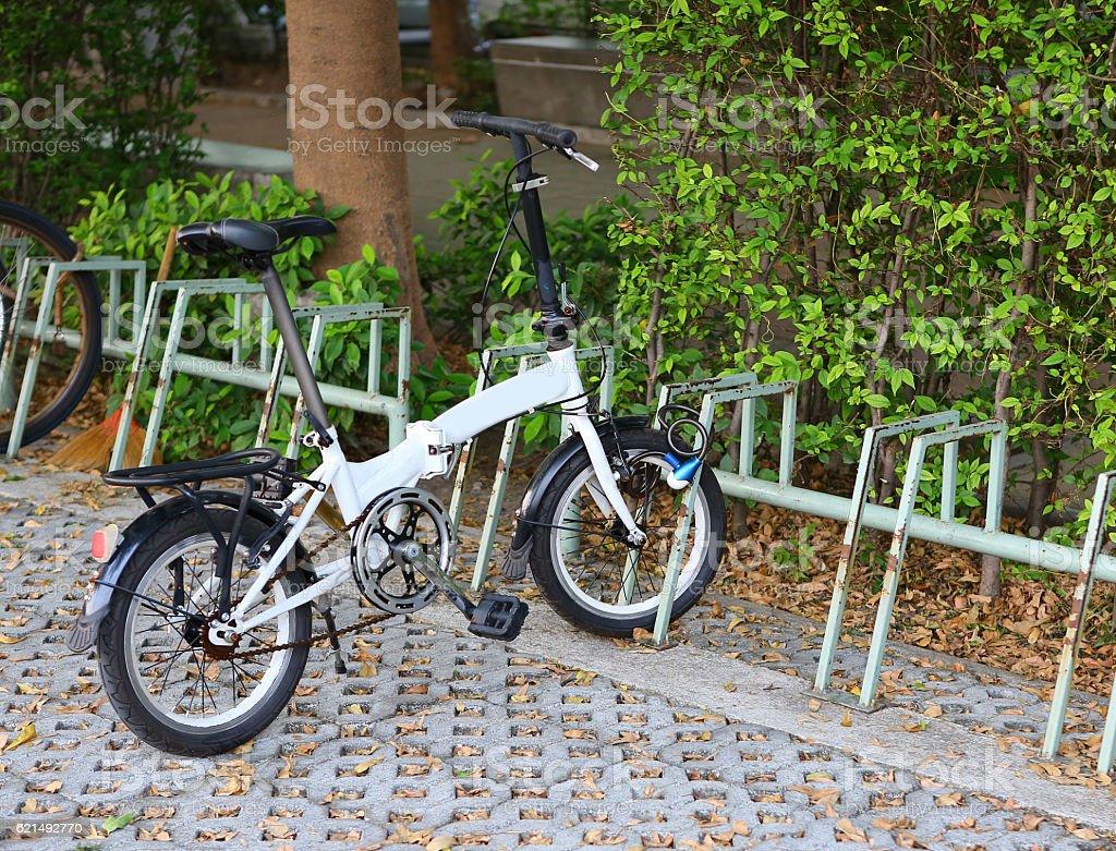 Bicycle at Bike parking photo libre de droits