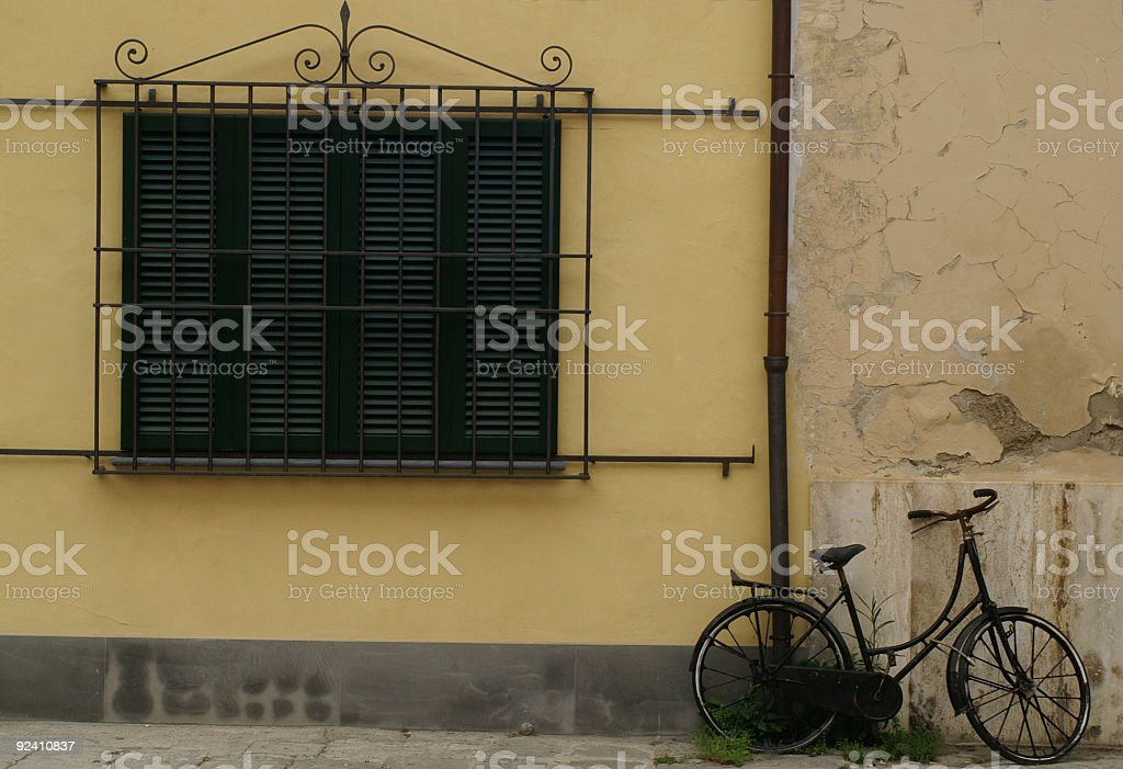 Bicycle at rest royalty-free stock photo