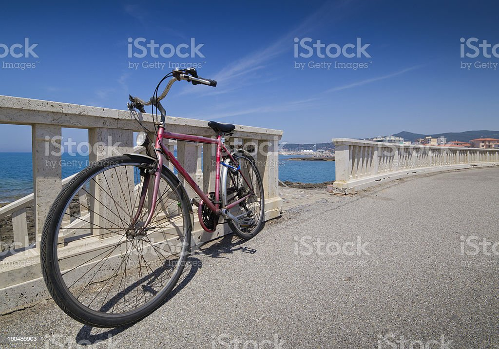 Bicycle by the sea royalty-free stock photo