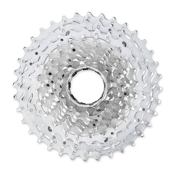 bicycle cassette stock photo