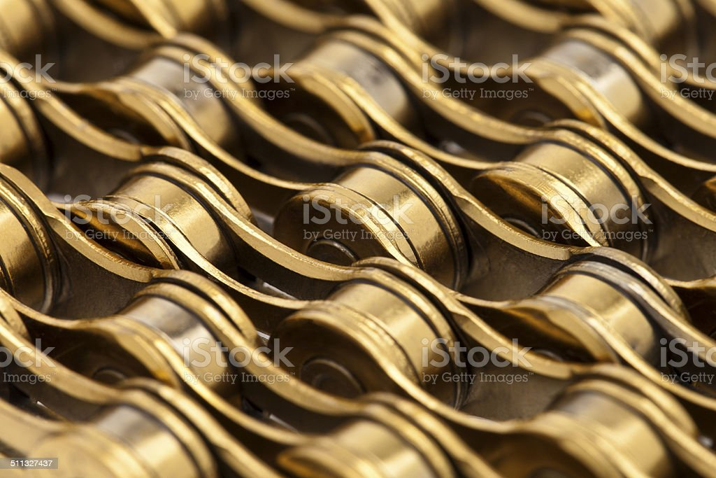 Bicycle chain close-up. stock photo