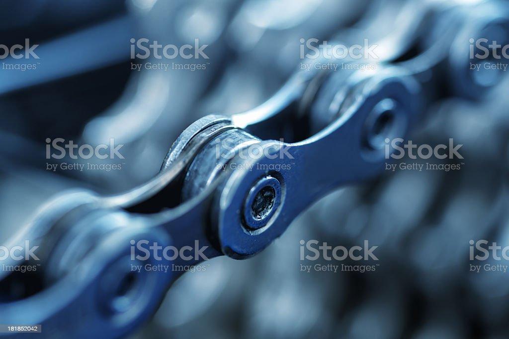 bicycle chain macro royalty-free stock photo