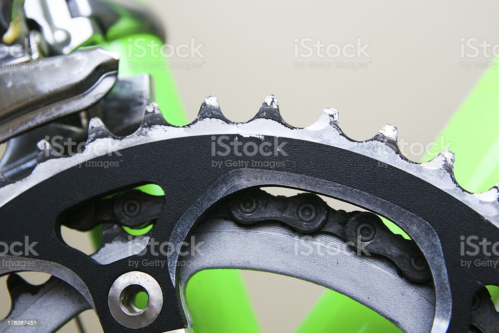 Bicycle Chain Ring royalty-free stock photo