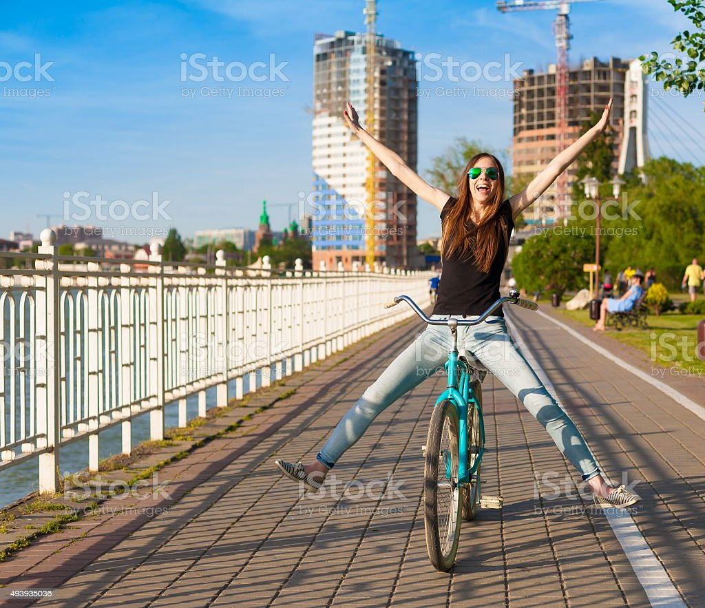 bicycle city stock photo