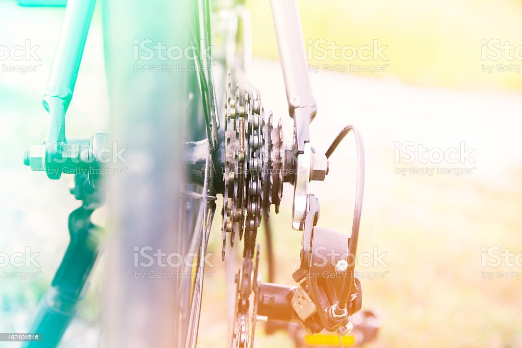 bicycle color filter stock photo