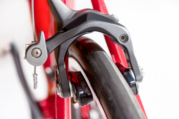 Bicycle Concept. Closeup of the Professional Front Brakes.