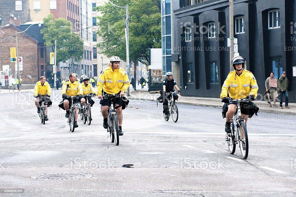 Bicycle Cops royalty-free stock photo