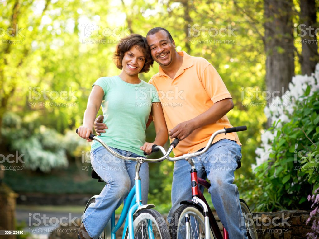 Bicycle Couple stock photo